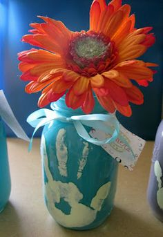 vase by Handprint and Footprint Arts & Crafts