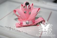 Princess tiara ribbon sculpture  Sculpture clippies by connie