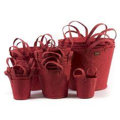 Uashmama Papírový košík s ušima L toskánská červená - PANCOLGTOS