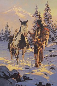 The Morning After - Signed and Numbered Limited Edition Print by Chuck Ren - 24 x 16 Native American Paintings, Native American Pictures, Native American Wisdom, Indian Pictures, Native American Artists, Native American Indians, American Symbols, Native Indian, Native Art