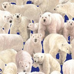 Fabriquilt Living Wonders Polar Bears