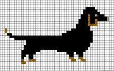 A51093 - friendship-bracelets.net Tiny Cross Stitch, Simple Cross Stitch, Cross Stitch Animals, Cross Stitch Charts, Cross Stitch Patterns, Alpha Patterns, Loom Patterns, Cross Stitching, Cross Stitch Embroidery