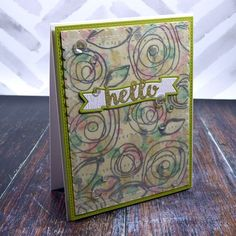 Tutorial video using adhesive sheets for vellum