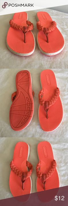 925179252 Shop Women s Sperry Orange size 7 Sandals at a discounted price at  Poshmark. Braided rope top with non marking base.