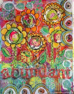 Sleepyhead Designs Studio Creating on some beautiful backgrounds from my Gelli Arts - Gel Printing Plate this weekend.