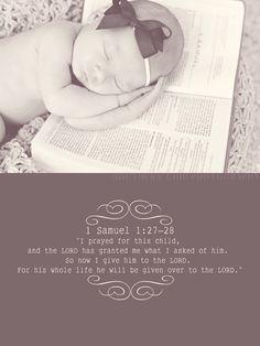 Bible verse on Dalton's birth announcements!!