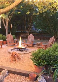 Fire pit - like how they have it elevated