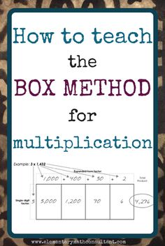box method multiplic