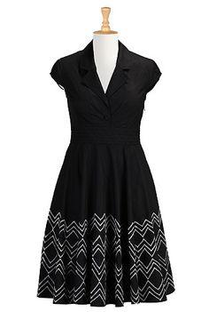 I <3 this Embellished chevron stripe dress from eShakti