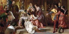 Shakespeare nell'arte Svenimento di Ero in chiesa di Alfred Elmore