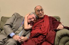 "The Dalai Lama with neurosurgeon James Doty, author of "" Into the Magic Shop""."