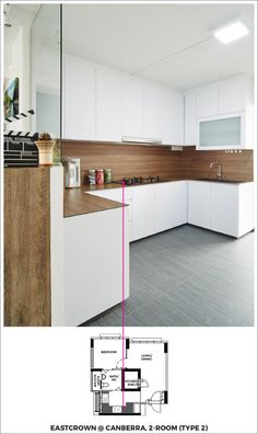 An open kitchen design for your BTO.