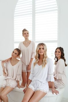 8 Getting Ready Outfit Ideas for the Bridal Party – The Internet's Maid of Honor Bridesmaid Get Ready Outfit, Bridesmaid Rompers, Bridesmaid Pyjamas, Bridesmaid Getting Ready, Bridesmaid Gifts, Prep Outfits, Pajama Outfits, Bridal Party Getting Ready, Fashion Clothes
