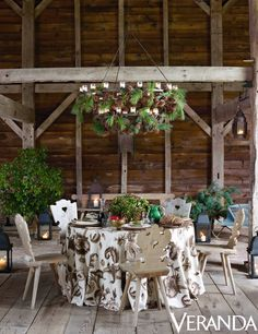 Rustic Chic New Year's Lunch with Aerin Lauder in Veranda via Quintessence