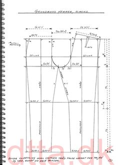 SYSTEM DTTA: PAGE 121 | Tailoring - patternmaking, cutting and sewing | THE DESIGN AND TECHNICAL TAILORING ACADEMY | TILSKÆRERAKADEMIET I KØBENHAVN (KBH)