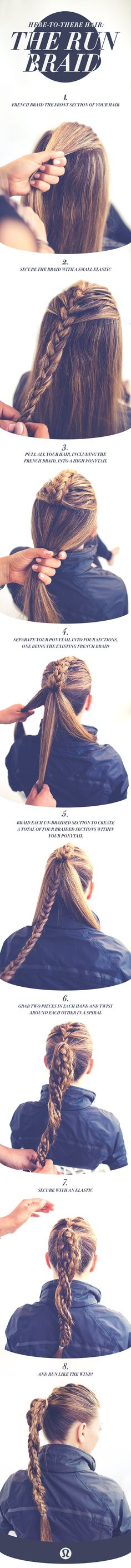 I officially want long hair & someone to braid it for me | here-to-there hair: the run braid