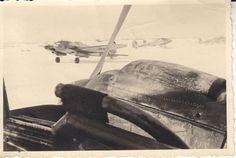 Foto Luftwaffe Flugzeug He 111 H der 6./KG 53 im Winter 1942/43 in Rußland#   eBay