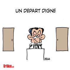 Primaire : éliminé dès le 1er tour, Nicolas Sarkozy condamné à la retraite politique - Dessin du jour - Urtikan.net