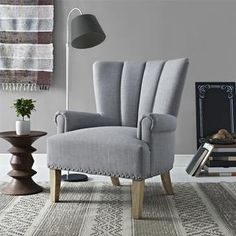 Shop for Avenue Greene Milo Grey Accent Chair. Get free shipping at Overstock.com - Your Online Furniture Outlet Store! Get 5% in rewards with Club O!