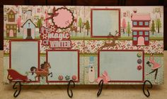 Winter Woodland Cart Layout ($5 kit) (Basic Grey paper?)