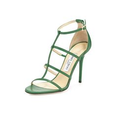 JIMMY CHOO 'Mindy' Sandals ❤ liked on Polyvore featuring shoes, sandals, white leather sandals, jimmy choo sandals, ankle strap sandals, ankle strap stilettos and white leather shoes