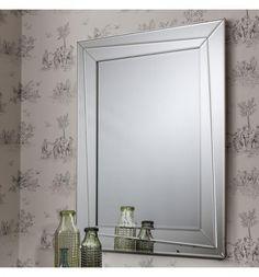 Modern Gallery Direct Coylton Bright Silver Framed Mirror. #modernfurniture #interiordesign #home #modernhome #furniture #interiors #mirrors