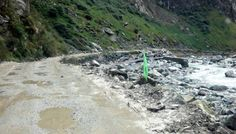 Driving to Songpan - the roads could do with a little work