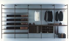 Amazing Open Wall Mounted Walk In Wardrobe For 2013 Design Sample