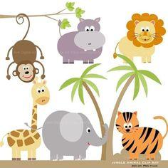 free printable jungle animals zoo and jungle animals clipart rh pinterest com zoo animal clip art free zoo animal clip art cartoons