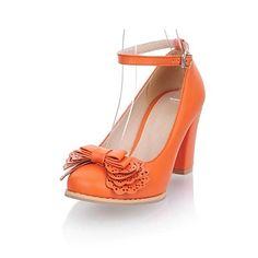 Kvinners Chunky Heel Round Toe Pumps sko (flere farger)  – NOK kr. 165