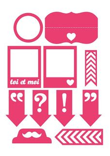"Free Silhouette cut file (to download click on ""ici"" where it says ""Pour télécharger, c'est ici"")"