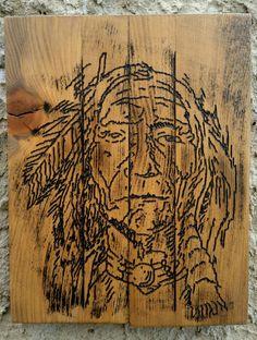Native American Art, Hand Carved Wood Art, War bonnet, Indian Chief, Native American Wood, Native American, Wall Art, Home Decor