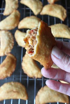 Spicy Sardine Corn Empanadas - dropping salty fish fish rolled into Rick Bayless dough boys.