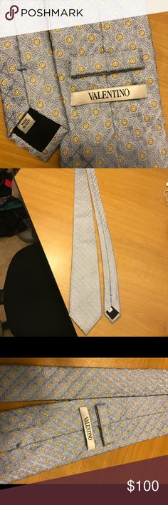Men's tie Very classy and subtle men's Valentino men's tie. Used only once. In brand new condition. Only one Valentino tie left. Valentino Accessories Ties