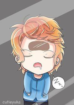 Shu Sakamaki just u know sleepin... on a glass window... lol how i feel in school