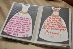 A Memorable Bridal Shower Gift with Free Printable. each guest writes advice and wishes for bride!
