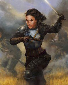 Fantasy Art Women, Fantasy Story, High Fantasy, Black Characters, Fantasy Characters, Female Characters, Dnd Characters, Female Armor, Female Knight