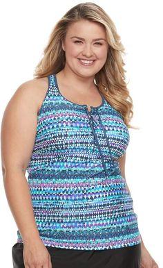24909ffa513d6 Women's A Shore Fit Tummy Slimmer Empire Tankini Top, Size: 6, Black |  Pinterest | Tankini, Empire and Products