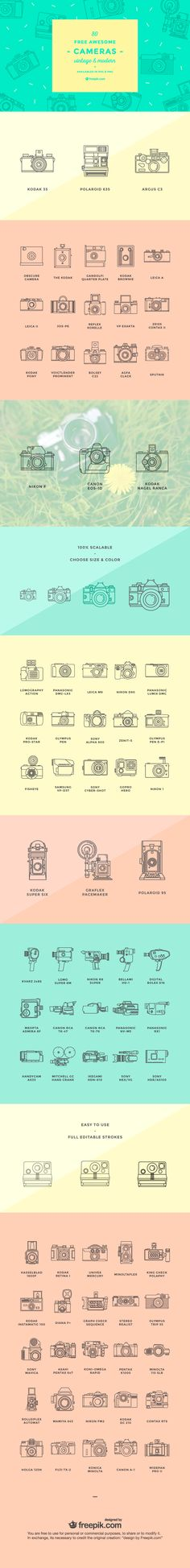 Free awesome cameras  vintage & modern