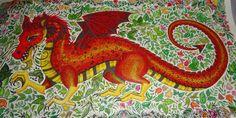 Dragão do livro Floresta encantada. Enchanted Forest Dragon.