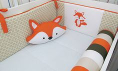 Fox Themed Nursery, Fox Nursery, Paisley Nursery, Fox Baby Clothes, Baby Zimmer, Fabric Animals, Woodland Decor, Baby Kit, Fox Design