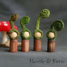Little Fiddlehead Fern Peg Doll Waldorf Inspired by BeetleAndFern