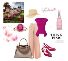 """""""just Pink"""" by hanne-xiii ❤ liked on Polyvore featuring Victor Xenia, Roland Mouret, Miss Selfridge, Fendi and Effy Jewelry"""