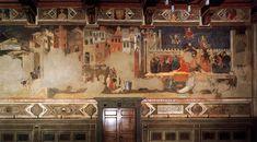 Ambrogio Lorenzetti. Effects of Good Government on the City Life (detail) (1338-40). Fresco. Palazzo Pubblico, Siena