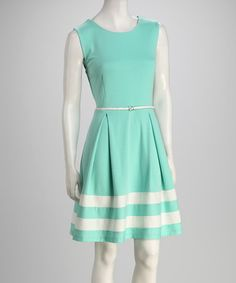 Take a look at this Mint Stripe Belted Dress by AA Studio on #zulily today!  Too bad they already sold out of my size:(