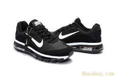 huge discount e4efe 5c527 New Coming Nike Air Max 2017 5Max KPU Black White Women Men Black Nike Shoes ,
