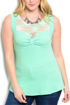 Plus Size Flirty Fitted Floral Top