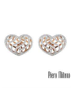 PIERO MILANO Made In Italy Earrings Designed In 18K Gold