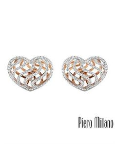 PIERO MILANO Made In Italy Earrings Designed In 18K Gold