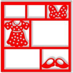 Minnie in Pieces - Laser Die Cut Scrapbook Overlay